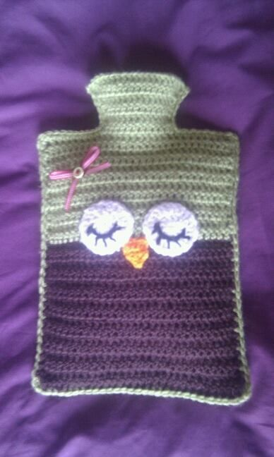 Crochet owl hot water bottle :)