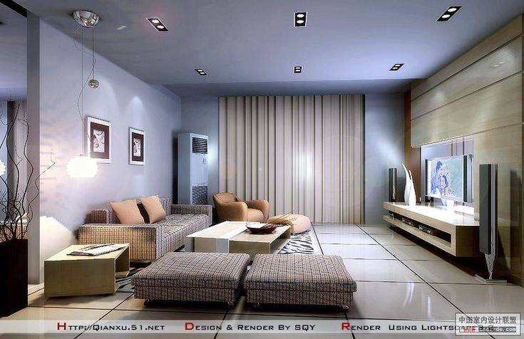 Contemporary Living Room Tv