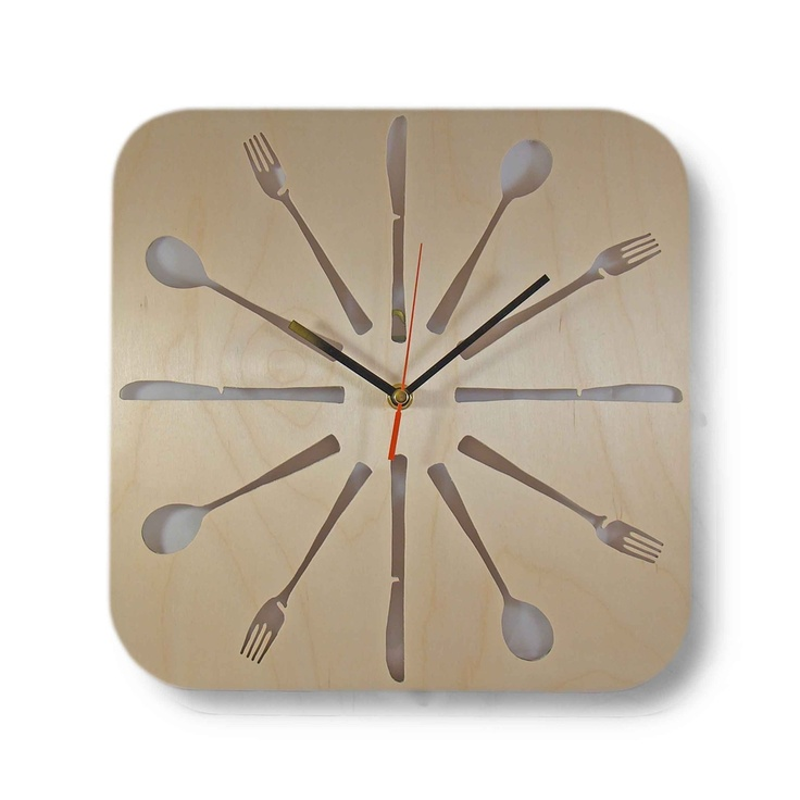 fork knife spoon clock