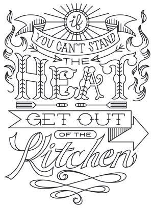 Kitchen Stitchin' - Stand the Heat design (UTH7427) from UrbanThreads.com