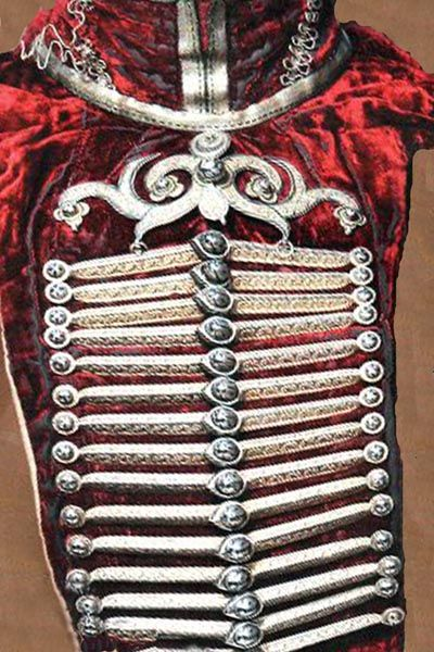 Circassian women's silver clasp.  Clothing style: 19th century.