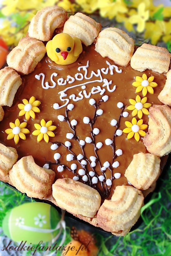 Mazurek is a type of pastry (a cake) baked in Poland, particularly at Easter, but also at other winter holidays. It is generally decorated with icing and fruit and nuts.
