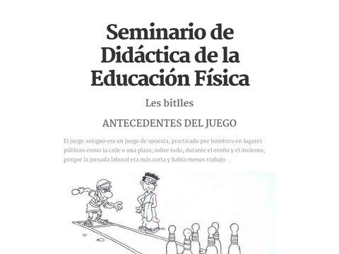 Seminario de Didáctica de la Educación Física. Ejemplo de juego popular y su conversión en juego modificado.