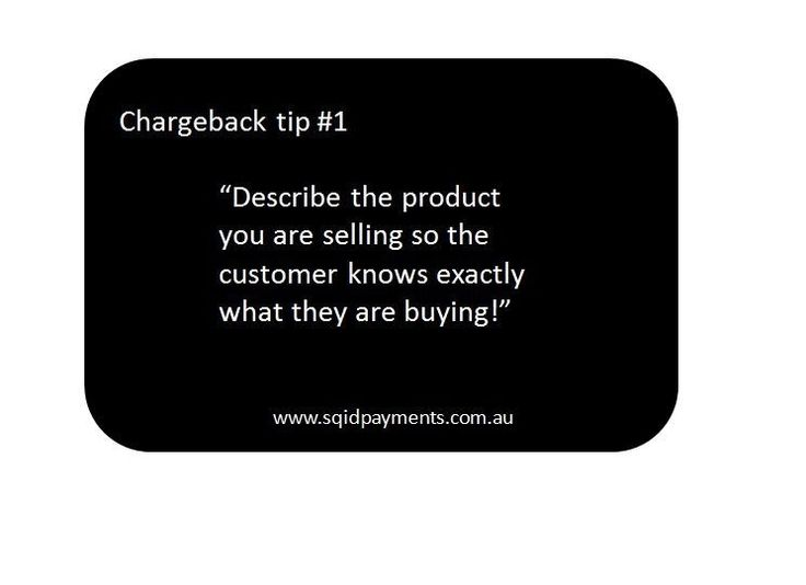 Chargeback tip #1