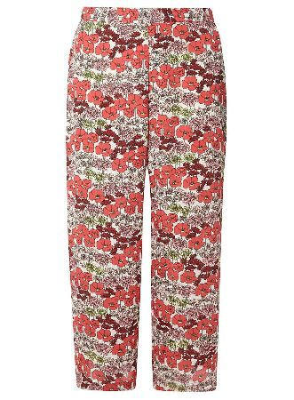 Dorothy Perkins Womens Pink and White Floral Cropped Trousers- Floral print cropped trouser in pink and white. Length: 56cm. 100% Polyester. Machine washable. http://www.MightGet.com/january-2017-13/dorothy-perkins-womens-pink-and-white-floral-cropped-trousers-.asp
