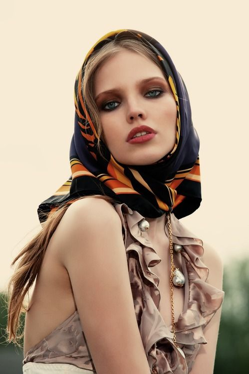 55 Best Head Scarf Chic Images On Pinterest Headscarves