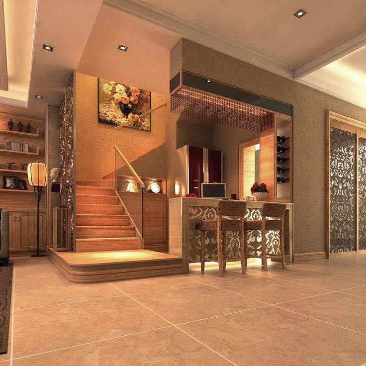 Barano Model Home Interior Design: 3D Home0036 3D Model- Detailed Living Scene. Created With
