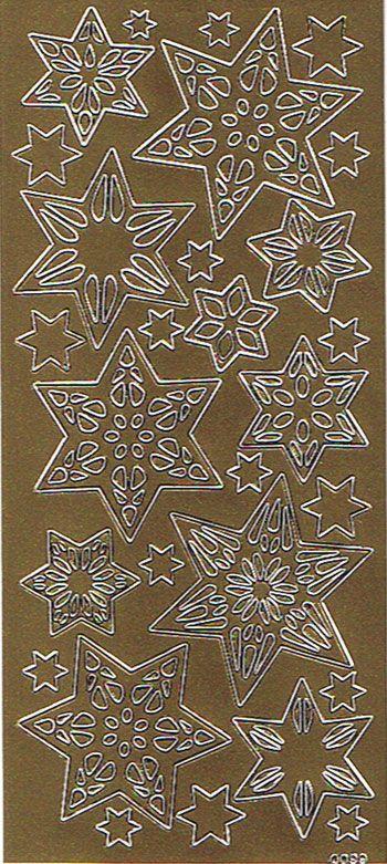 Stickers ark med guld stjerner til din hobby, festlige anledninger, højtider og meget mere.