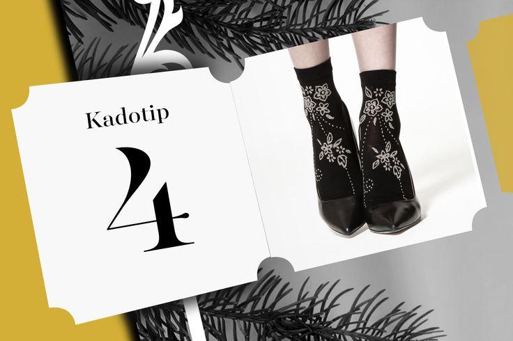 """Over fashionable socks gesproken! Achter deurtje 4 van de La Bottega adventskalender vinden we deze prachtige sokken van Doré Doré. Met deze """"made in Italy"""" sokken pimp je je outfit instant! Leg ze onder de Kerstboom voor iemand of hou ze lekker zelf."""