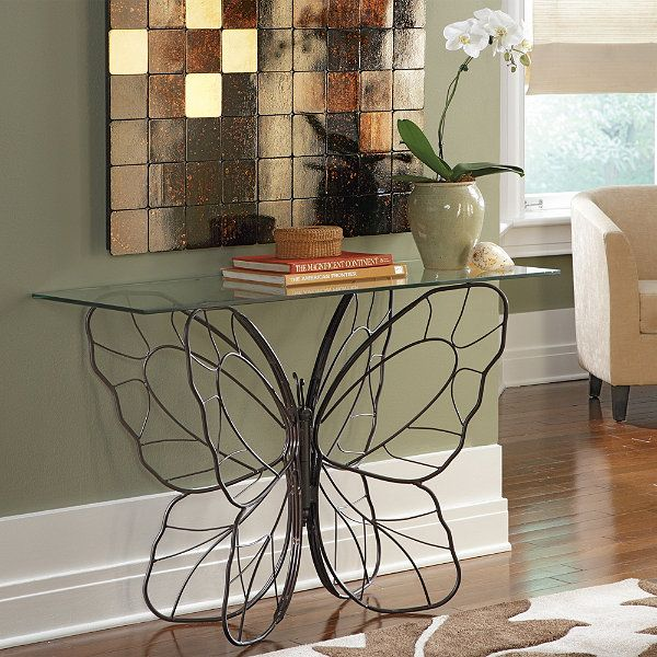Captivating Monarch Butterfly Console Table