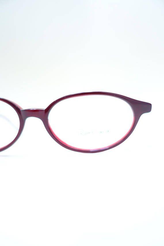 48d84ec8cf866f 1990s Y2k Small Glasses - Small Red Womens Eyeglasses - 90s Tumblr ...