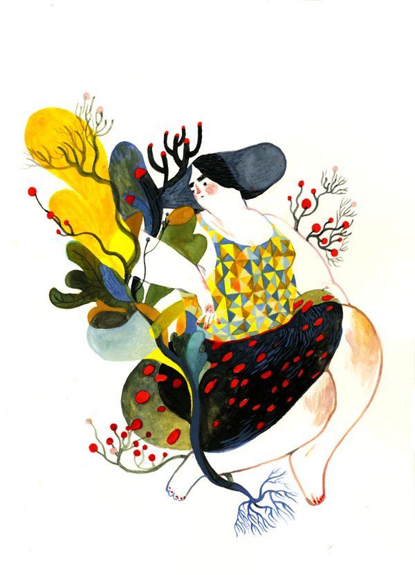 Fat Lady on Illustration Served