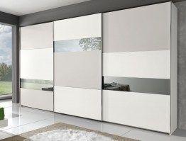 Модный дизайнерский шкаф купе с зеркальными вставками