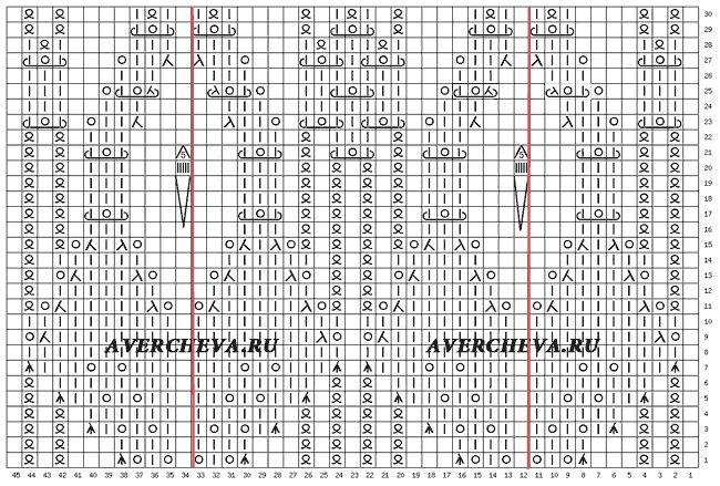 схема узора 899
