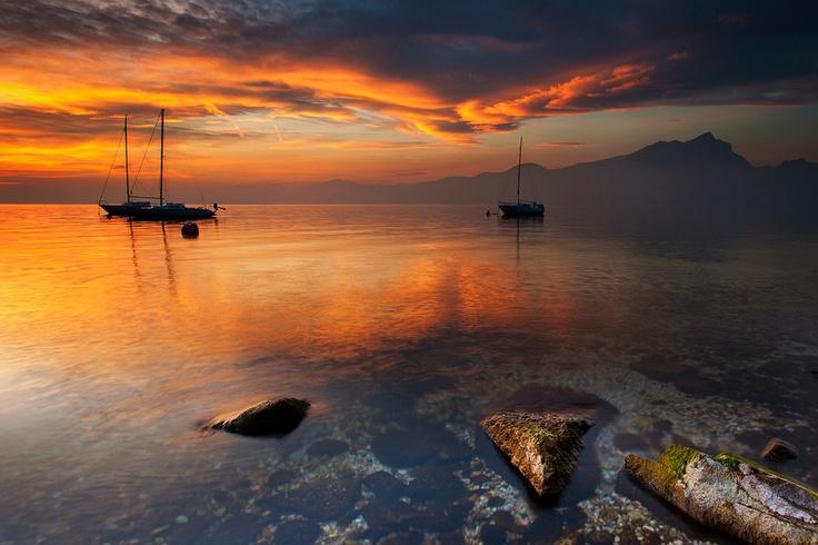 Tramonto sul Garda #LagodiGarda #LakeGarda #Gardasee #LacdeGarde