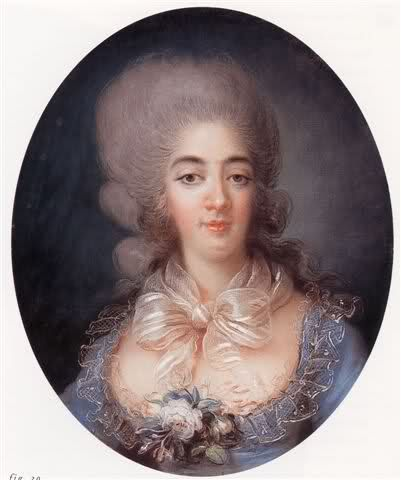 Marie-Josephine-Louise de Savoie, comtesse de Provence (1753-1810), wife of Louis XVIII and titular Queen of France from 1795 until her death in 1810, 1780 by Rosalie Filleul
