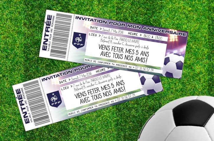 Sur www.tous-les-heros.com on vous met à disposition des Cartes d'invitations pour un anniversaire foot à…