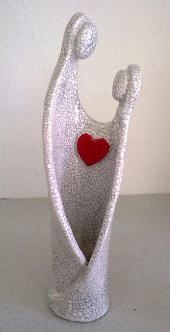 Figurine en Raku symbole de l'amour, du couple (secteur sud ouest)