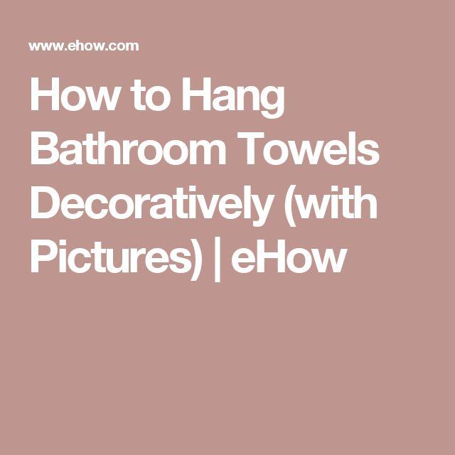 folding bath towels pinterest 39 te banyo havlular ve banyo donan m hakk nda 1000 39 den fazla fikir. Black Bedroom Furniture Sets. Home Design Ideas