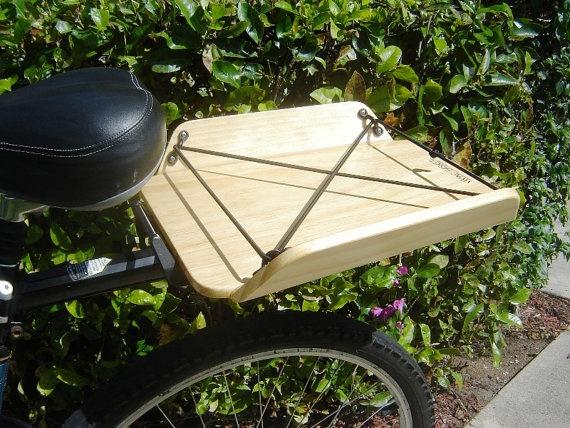 Bike / Bicycle Rear Rack Cargo Carrier by CustomWingBasketShop