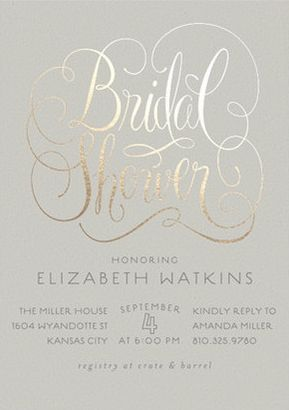 23 bridal shower invitation ideas that youu0027re going to love