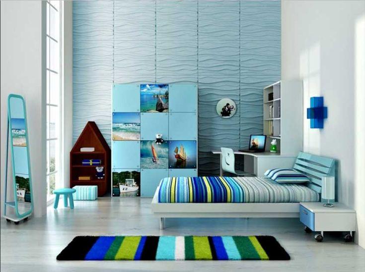 BADEZIMMER NEU GESTALTEN HOUSE Wandgestaltung jugendzimmer mit 3d wandpaneel in blautöne
