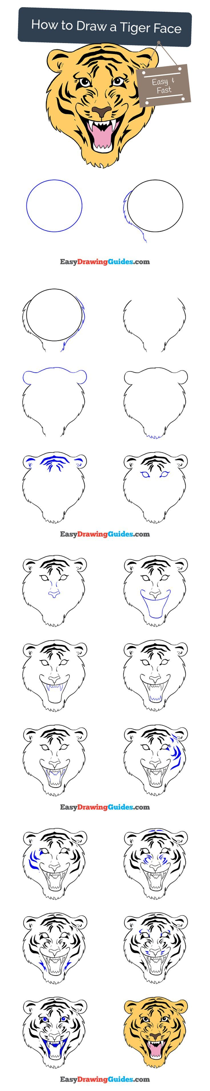 Uncategorized How To Draw A Tiger Step By Step best 25 how to draw tiger ideas on pinterest cartoon a face in few easy steps