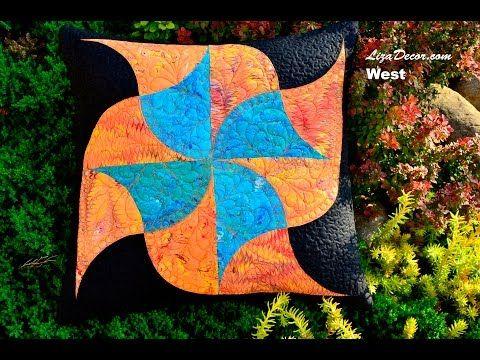 Patchworková šablona West #patchwork #lizadecor #tutorial #Clamshell #šablona #video