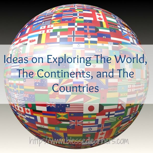 Here are 30 ideas in Exploring the World, The Continents, and The Countries. They are some exciting activities to engage geography.