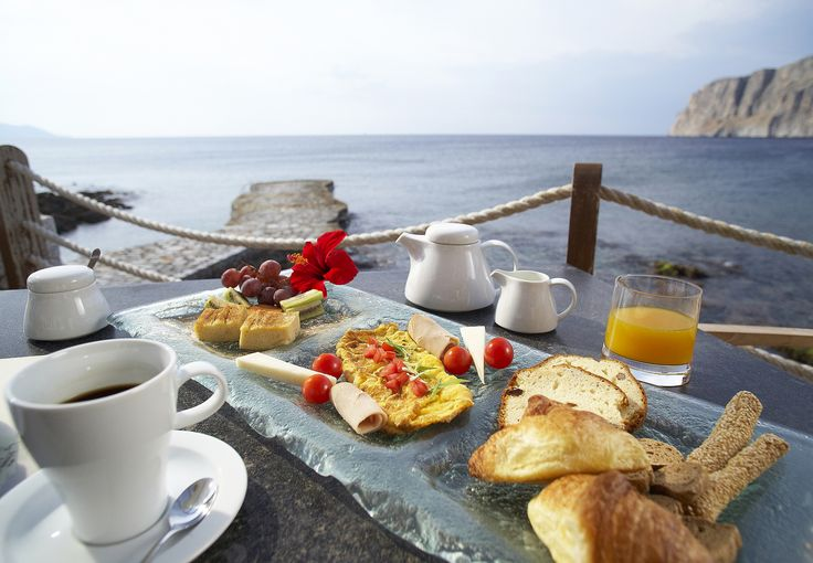 Nothing feels better than enjoying a rich #breakfast by the sea at the aquatic paradise of #KyrimaiHotel in #Mani, #Greece!http://www.tresorhotels.com/en/hotels/12/kyrimai-hotel