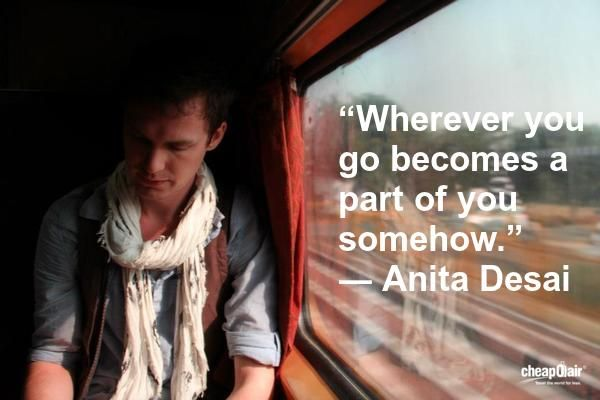 """Wherever you go becomes a part of you somehow."" ― Anita Desai #travel #quotes"
