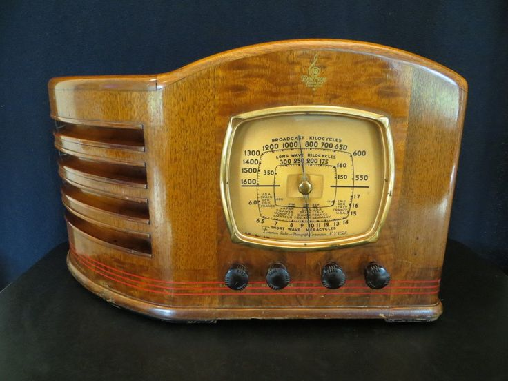 Vintage 1930s Old Emerson Art Deco Antique Ingraham Radio Outstanding Cabinet | eBay