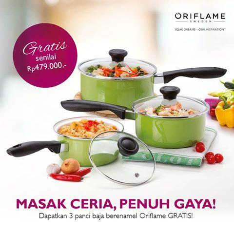 oriflame kasi promo gratis 3 panci untuk para member/anggota/konsultannya di bulan april 2017  ingin info jelas di promo bulan april ini, hubungi: Sri Wahyuni Alfi Pin. 5E1F4BDB 089647425947