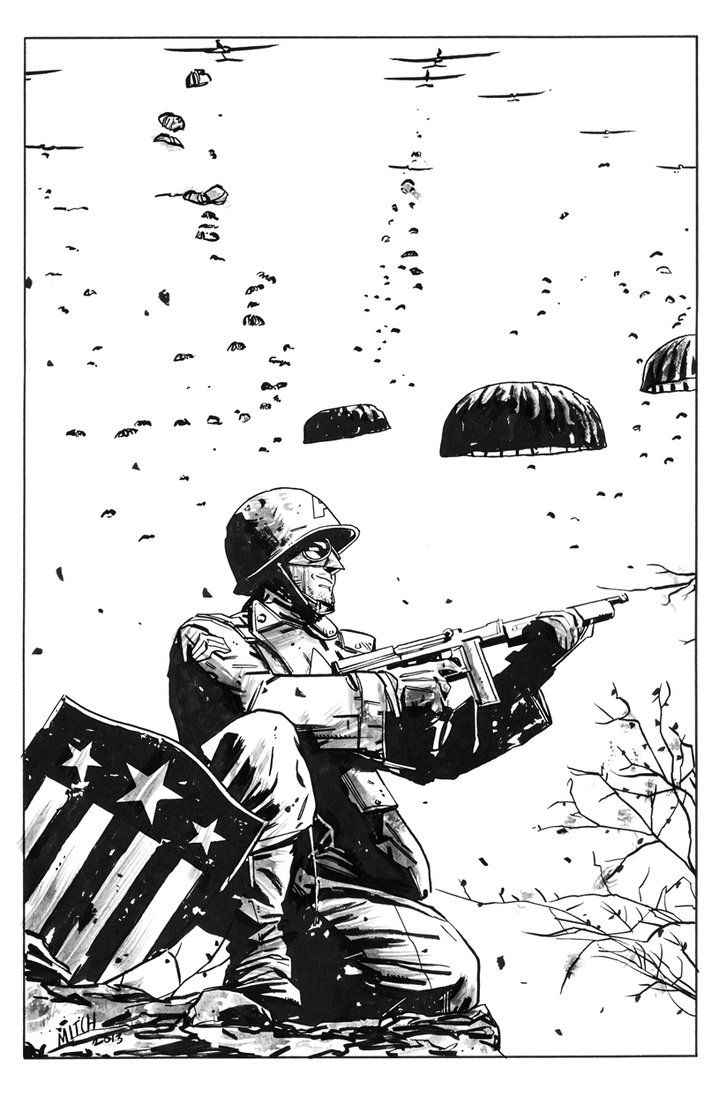 WWII Captain America - Mitch Gerads
