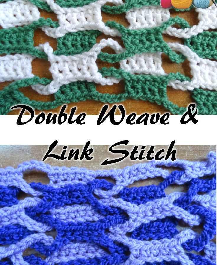 Double Weave and Link Stitch pattern and video tutorials by Meladora's Creations