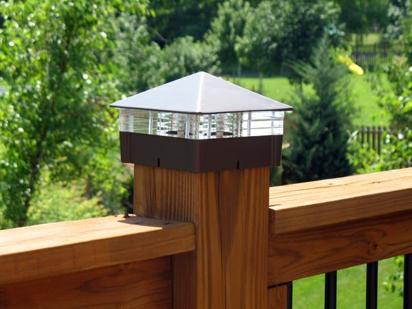 Low voltage or solar deck lights are not only energy efficient, they can be stylish too.