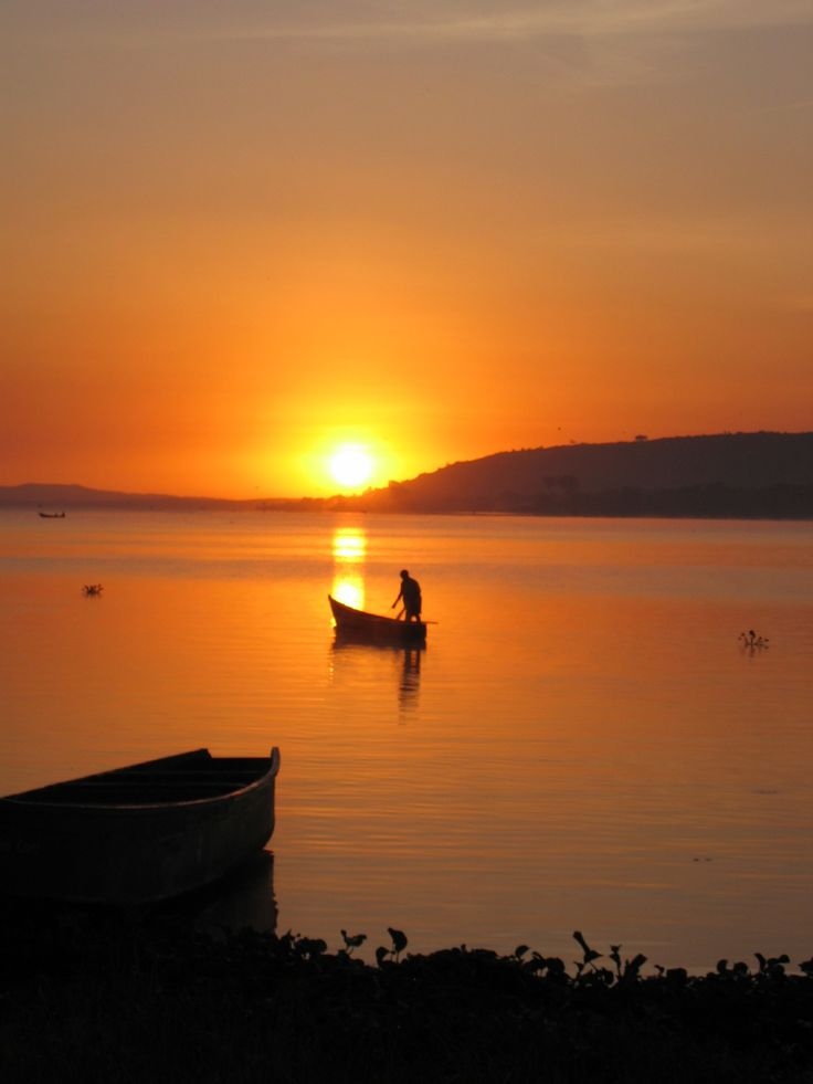 Uganda, looking out over Lake Victoria