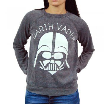 Womens Star Wars Darth Vader Sweatshirt Grey – Buy Star Wars Merchandise from Honcho-SFX UK Store