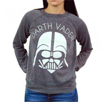 Womens Star Wars Darth Vader Sweatshirt Grey – Buy Star Wars Merchandise from Honcho-SFX UK Store