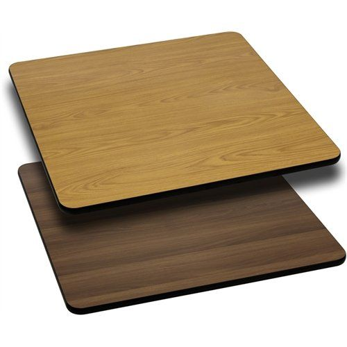"Flash Furniture 36"" Square Table Top with Natural or Walnut Reversible Laminate Top"