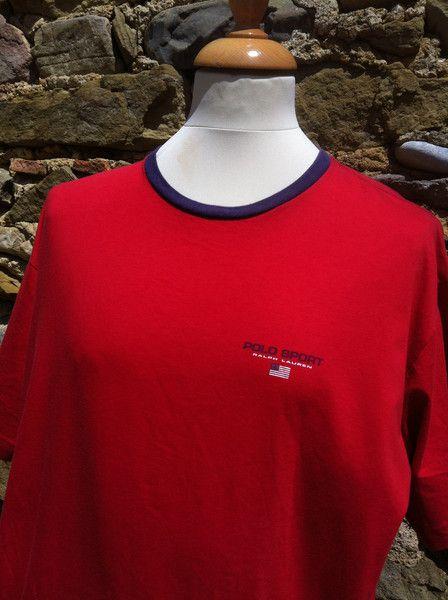 Vintage red Polo Sport, Ralph Lauren Top
