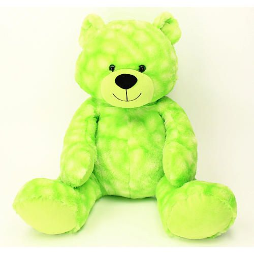 "Babies R Us Plush 22 inch Jumbo Bright Tip Dyed Bear - Green - Babies R Us - Toys ""R"" Us"