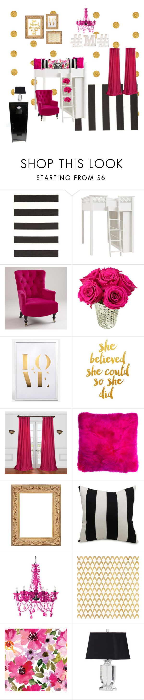 """""""tween bedroom"""" by meghangiron1 ❤ liked on Polyvore featuring interior, interiors, interior design, home, home decor, interior decorating, Surya, PBteen, Cost Plus World Market and WALL"""