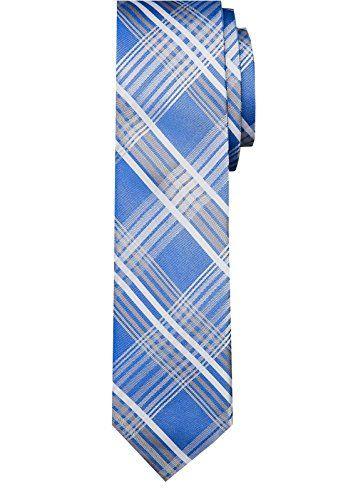 Calvin Klein Men's Bianco Plaid III Neck Tie