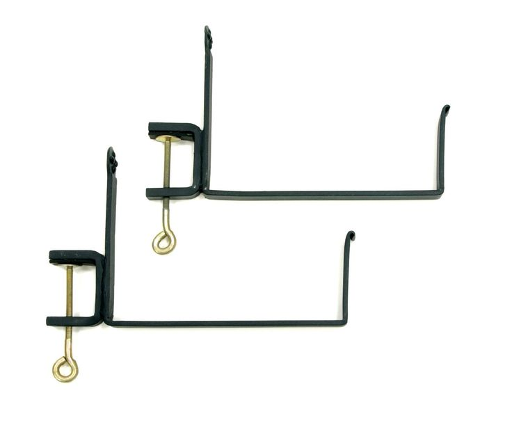 Clamp-on Flower Box Brackets - attach window boxes to the ledges under our windows rather than drilling into the brick. Good since its a rental.