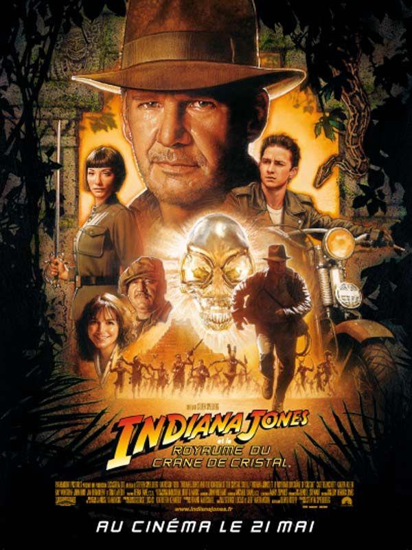 Indiana Jones et le Royaume du crâne de cristal est un film d'aventure américain réalisé par Steven Spielberg, sorti en 2008. La nouvelle aventure d'Indiana Jones débute dans un désert du sud-ouest des Etats-Unis. Nous sommes en 1957, en pleine Guerre Froide. Indy et son copain Mac viennent tout juste d'échapper à une bande d'agents soviétiques à la recherche d'une mystérieuse relique surgie du fond des temps. De retour au Marshall College, le Professeur Jones apprend une très mauvaise…