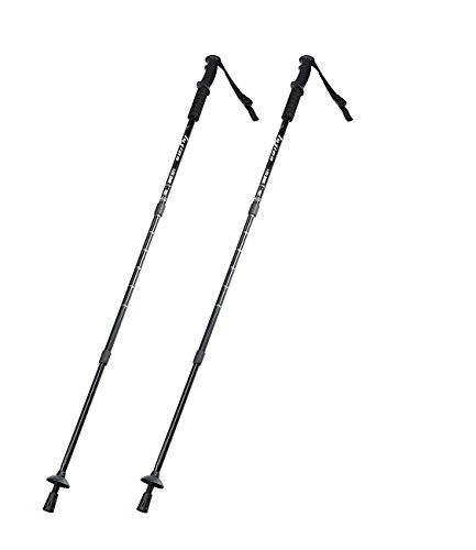 Team Pistol Aluminum Alloy Ultralight Retractable Anti Shock Trekking Pole,1 Pair. Use 6061 series high quality aviation aluminium alloy for stick, firm, wearproof, toughness, Anti-Corrosion, Anti -oxidation and light weight. EVA Comfortable, soft, Sweat-absorbent Grip. 3LS lock system, EP material with high density, excellent impact resistance, not be affected by rain and snow, sand and dust, heat and cold, such as bad weather, which guarantee the lock system firm and reliable. Professional…