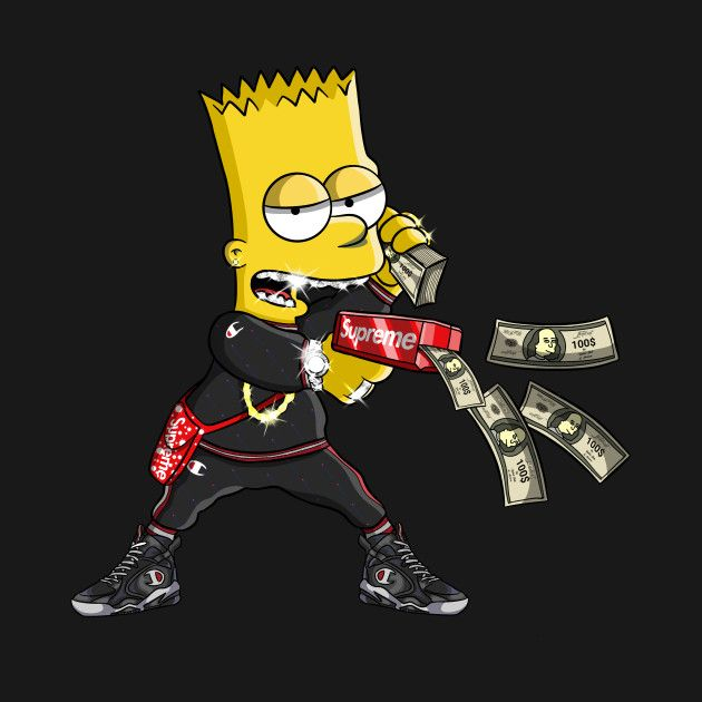Pinterest Jsadrianosz Bart Simpson Art Simpson Wallpaper Iphone Iphone Wallpaper Hipster Bape cool bart wallpapers