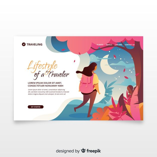 Travel landing page Vector | Free Download