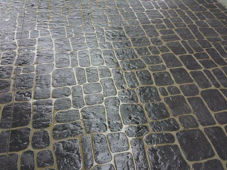 Austrian Cobblestone Concrete Stencil Hit The Floors
